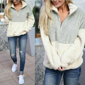 Tops - JUSTINE softest pullover - TAUPE / GRAY
